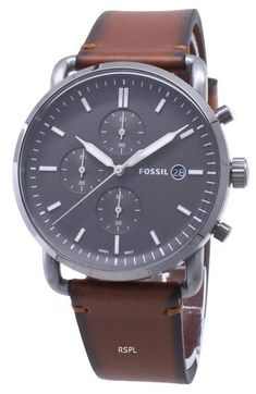 Fossil The Commuter Chronograph Miesten kello - Citywatches. White Watches For Men, Watches For Men Unique, G Shock Watches Mens, Mens Sport Watches, Fossil Watches, Watches Online, Stainless Steel Case, Chronograph, Quartz