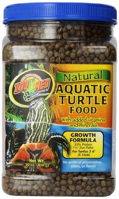 Zoo Med Natural Aquatic Turtle Food, Growth Formula, 30 oz