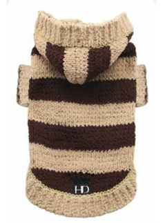 Cozy dog sweaters keep your furbaby stylish and warm. Dog sweaters are cute and can be a fashion accessory, but some dogs such as short-haired breeds, older dogs, ill dogs, and puppies need them as protection against cold during any season. Dog Sweater Pattern, Crochet Dog Sweater, Dog Pattern, Dog Hoodie, Sweater Hoodie, Chat Crochet, Crochet Dog Clothes, Dog Jumpers, Designer Dog Clothes