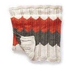 Bernat Ripple and Ridge Knit Blanket in color Bernat Baby Yarn, Bernat Baby Blanket, Blanket Yarn, Knitted Blankets, Afghan Crochet Patterns, Knitting Patterns Free, Knit Patterns, Free Knitting, Crochet Afghans