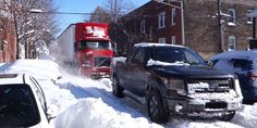 Ford F-150 rescues stuck semi in snowbound Chicago  - RoadandTrack.com