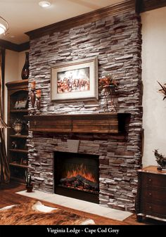 Stone And Brick Fireplace chimeneas♥ | fireplace!!!.❤ | pinterest | mantle and love'