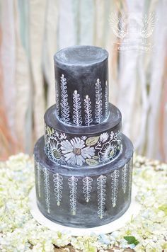 The chalkboard wedding cake trend is taking off! Check out these beautiful chalkboard wedding cake designs. Chalkboard Cake, Chalkboard Wedding, Chalkboard Designs, Black Wedding Cakes, Amazing Wedding Cakes, Amazing Cakes, Gorgeous Cakes, Pretty Cakes, Artisan Cake Company