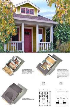 432 sq ft small house firefly 3d top view house plans pinterest house. Black Bedroom Furniture Sets. Home Design Ideas