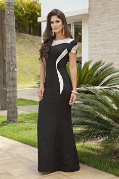 342f9facf produtos vestido longo em alfaiataria detalhe em renda kauly 2137 - Busca  na by Sophi Moda Evangélica, Plus Size e Executiva Online