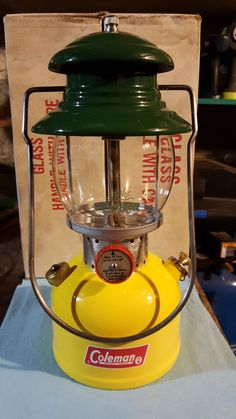 COLEMAN 1960s MODEL 200 YELLOW/GOLD SINGLE MANTLE CORN LANTERN COLORED + MORE | eBay