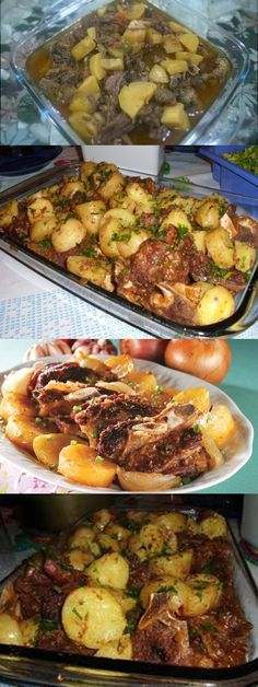 Tasty, Yummy Food, Portuguese Recipes, Pork Chops, Buffet, Food And Drink, Pizza, Beef, Treats
