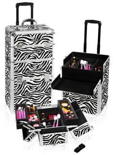 Vanity Suitcase With Lights Studio Makeup Case W Lights Mirror & Legs  Pink Alligator