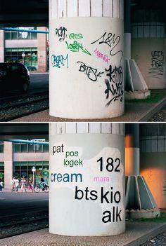 Mathieu Tremblin, el artista que cambia la fuente de los graffitis para que se puedan entender #StreetArt