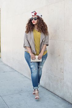 Love the colors and jacket and tee. Like the jeans but do not want ripped jeans.