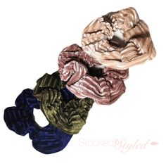 #Stockedandstyled #stockonhand #stylist #stylistlife #willoughby #langley #walnutgrove #fortlangley #leggings #socialitesuite #sassysuite #fashion #styled #clothing #accessories #homeboutique #supportlocal #shoplocal #scrunchies #hairscrunchies #happyhair #healthyhair #hairties #hairelastics #scrunchiesareback #scrunchiegang Velvet Ribbon, Clothing Accessories, Hair Ties, Healthy Hair, Boutique Clothing, Autumn Fashion, Stylists, Hair Scrunchies, Leggings