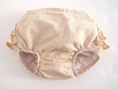 Vintage Baby Clothes 1950's Tan and White Gingham by BabyTweeds
