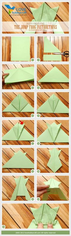 Rainforest Adventure Jumping Frog - Craft #3 Kid's origami-frog