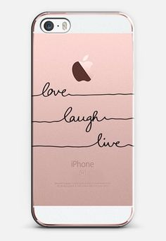 Love Laugh Live transparent iPhone SE case by Mareike Böhmer | Casetify