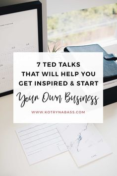 Anytime I feel a bit down and need something to pick me up and get back into that hustling mode- I turn to TED talks. Seriously, there's nothing better than listening to the inspiring stories of people I admire. Let me share some of my favourite ones with you all!