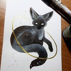 A starry Fennec Fox for day – Baak Turn Animals Animal Sketches, Animal Drawings, Cool Drawings, Art Sketches, Dessin Old School, Illustration Art, Illustrations, Creature Drawings, Witch Art