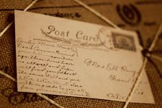 Writing prompt- old postcards from the antique store - very interesting to read and a great writing prompt