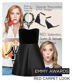 """Emmy Awards \\ Amy Schumer"" by perilousness-fashion on Polyvore featuring Alexander Wang, RED Valentino and Ranjana Khan"