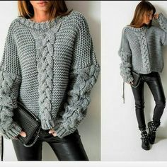 Knitting Sweaters Fashion Leggings Ideas For 2019 Knit Fashion, Sweater Fashion, Leggings Fashion, Leggings Mode, Pullover Mode, Pull Gris, Mode Shoes, Casual Outfits, Fashion Outfits