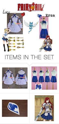 """""""Fairy Tail girls!!!"""" by laurablima-1 ❤ liked on Polyvore featuring art"""