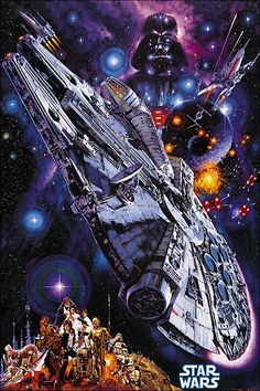 "Japanese Star Wars poster (1978) -  ""Star Wars"" for Your Mind, Heart and Soul - Dark Roasted Blend:"