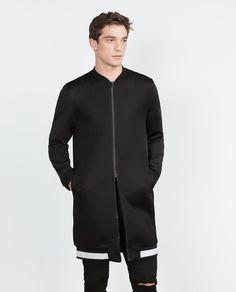 Zara - Long Bomber Jacket