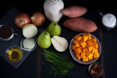 Steamed Not Fried.com // #Thanksgiving #Thanksgivingrecipes #food #goodfood #prettyfoodpictures #prettyfoodpics #foodblogs #Butternutsquash #pear #souprecipes #soup #onions #yam #sweetpotatoe #cinnamon #Thanksgivingfood