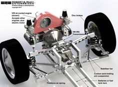 New trimuter chassis closeup.