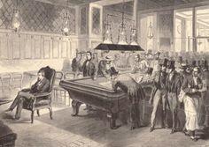 Paul Morphy jugando 8 partidas a ciegas en el Café de la Regence (Paris) - Le Monde Illustré, 16.10.1856