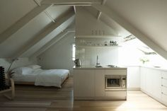 Mini-loft boven een dubbele garage