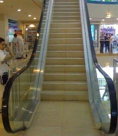 What an unusual-looking...escalator?