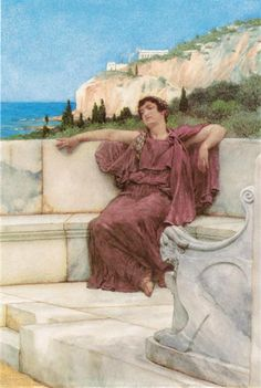 A Female Figure Resting (Dolce far Niente) - Alma-Tadema Lawrence