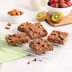 Barres tendres aux morceaux de chocolat - Les recettes de Caty Chips, Valeur Nutritive, Nutrition, Granola, Brownies, Cereal, Lunch, Snacks, Breakfast