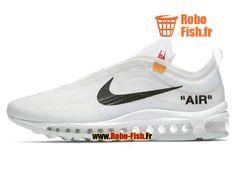 Officiel Off-White X Nike Air Max 97 Blanc/Noir AJ4585-100 Chaussure Sportswear Prix