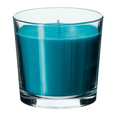 SINNLIG Geurkaars in glas IKEA Zorgt door de aangename geur van een verkoelend briesje en het warme schijnsel voor een prettige sfeer.