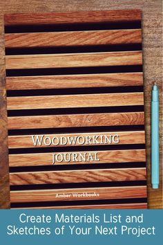 Plan your next woodworking project with the help of this note book, with a materials list and special pages for sketches to flesh out your ideas. Woodworking Journal, Woodworking Ideas, Project Planner, Sketch Design, The Help, Notebook, Sketches, How To Plan, Drawings