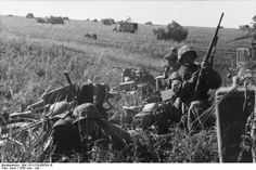 German motorized troop`s prepare to move out - Battle of Kursk July 1943