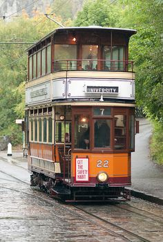 Glasgow Tram by karl101, A Rainy Day at Critch Tramway Museum
