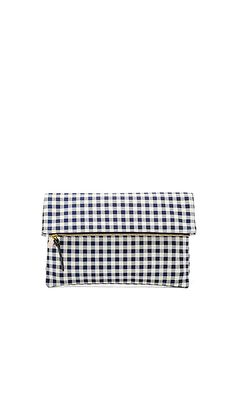 Shop for Clare V. Supreme Foldover Clutch in Navy Gingham at REVOLVE. Free 2-3 day shipping and returns, 30 day price match guarantee.
