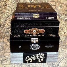 Alec Bradley Sanctum Wooden Cigar Boxes Jewelry Box Crafts Storage