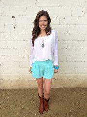 Cotton High-Waisted Shorts $28.50 @Prim Boutique