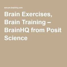 Brain Exercises, Brain Training – BrainHQ from Posit Science