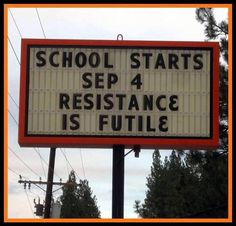 School starts.... resistance is futile. lol to help lighten the mood! #BUDDYFRUITSB2S