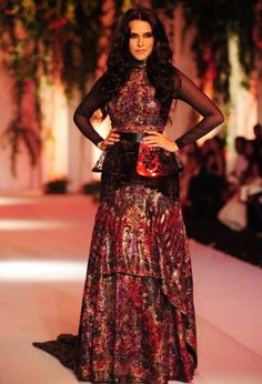 India Bridal Fashion Week 2013: Falguni & Shane Peacock with Neha Dhupia in black lehnga