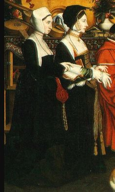 """Detail: Thomas More and his family 1592. Read """"Lady in the Portrait"""" for great story of Thomas More and his family."""