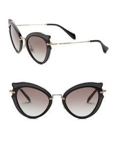 MIU MIU 52Mm Cat Eye Sunglasses. #miumiu #sunglasses