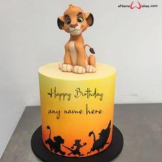 write name on pictures with eNameWishes by stylizing their names and captions by generating text on Cartoon Character Cakes for Baby Boy with ease.
