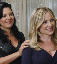 Un moment romantique pour Callie et Arizona