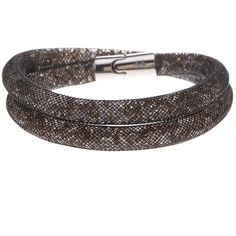Swarovski Stardust Crystal Filled Mesh Wrap Bracelet ($40) ❤ liked on Polyvore featuring jewelry, bracelets, crystal jewellery, crystal jewelry, swarovski bangle, crystal wrap bracelet and mesh jewelry