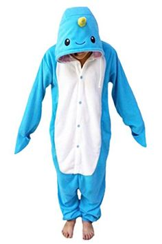 BEST SELLING:  WOTOGOLD Animal Cosplay Costume Narwhal Unisex Adult Pajamas Cartoon Sleepwear Sky Blue *** Click image for more details.